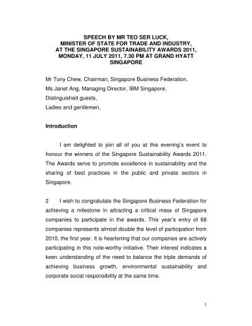 speech by mr teo ser luck, minister of state for trade and industry, at ...