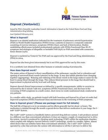Iloprost (Ventavis®) - PHA Online University
