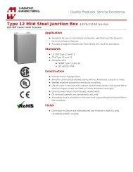 Type 12 Mild Steel Junction Box (1436/1438 Series) - Hammond Mfg.
