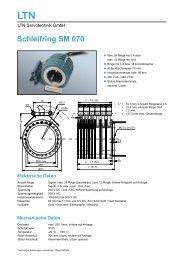 SM070 Schleifring Datenblatt - MACCON GmbH