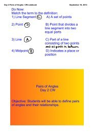 Day 2 Pairs of Angles CW.notebook