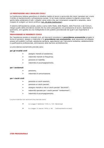 Le provvidenze non economiche previste sono: • La Legge 5 ...