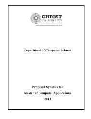 Download MCA Syllabus 2013 - Christ University