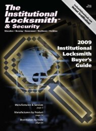 At the time I write this message - The National Locksmith