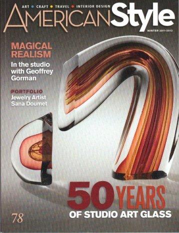 ' MAGICM. I In the studlo - Art Alliance for Contemporary Glass