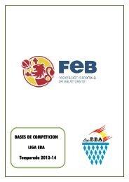 Normas Específicas Liga EBA - Federación de Baloncesto de ...