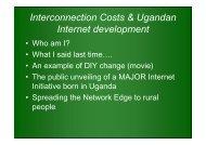 Interconnection Costs & Ugandan Internet development