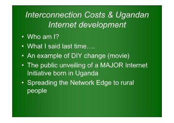 Interconnection Costs & Ugandan Internet development