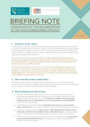 BrIEfIng noTE - Department of Children and Youth Affairs