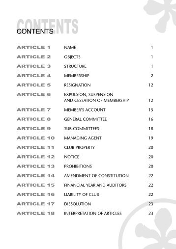 CONTENTS - Orchid Country Club
