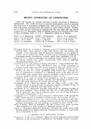 Recent literature on Lepidoptera