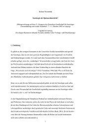 1 Helmut Wiesenthal Soziologie als Optionenheuristik? - von Helmut ...