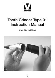 Tooth Grinder Type 01 Instruction Manual - Kruuse