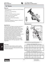 LV6BAB Parker Pneumatic Lockout Valve Datasheet - MRO Stop