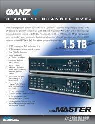 GANZ® Digi-Master Series - Convergent Solutions