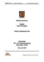 Marks kommun Sjödal Stora Öresjön Västra Götalands län Förstudie ...