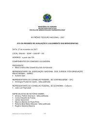 Veja os premiados - Tesouro Nacional - Ministério da Fazenda