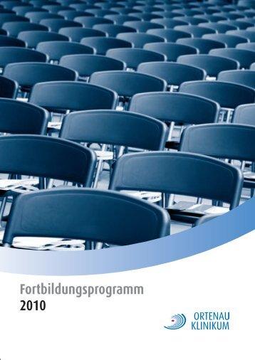 Fortbildungsprogramm 2010 - Ortenau Klinikum