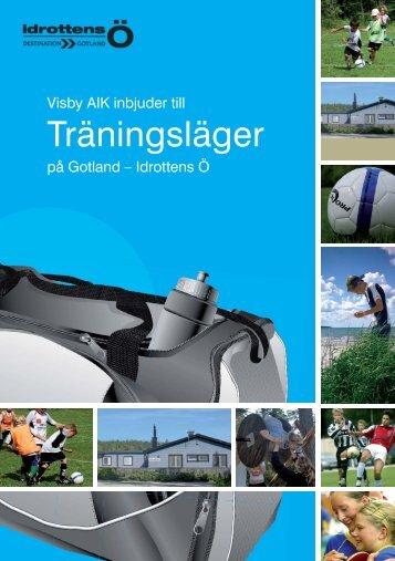 Träningsläger 2010 sid 1 Bild o Reklam.indd - Idrottens Ö