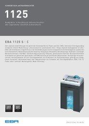 EBA 1125 - Aktenvernichter mit separatem CD/DVD-Schneidwerk