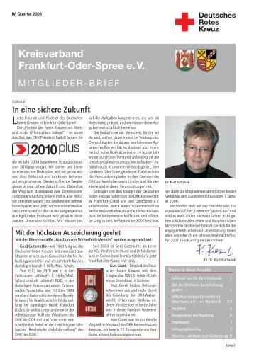 Kreisverband Frankfurt-Oder-Spree e. V. - DRK Kreisverband ...