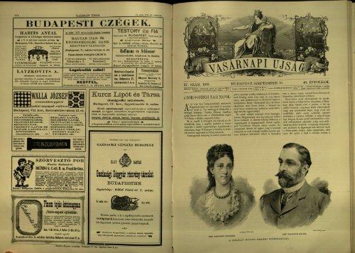 Vasárnapi Ujság - 40. évfolyam, 37. szám, 1893. szeptember 10. - EPA