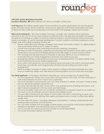GSK market intelligence internship job description (PDF - 87KB)