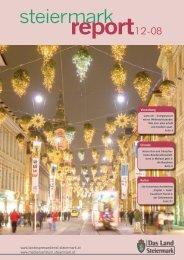 Steiermark Report Dezember 2008- doppelseitige Ansicht