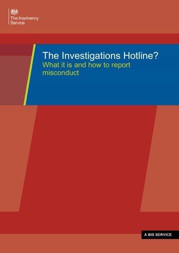 Investigations-Hotline