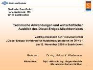 Technische Anwendungen und wirtschaftlicher Ausblick des Diesel ...