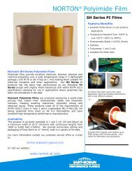 Norton Polyimide SH Series Film, Saint-Gobain ... - NORTON® Films