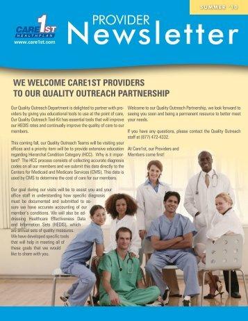 HIPAA Authorization Form - Care1st Health Plan