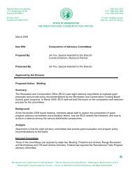 Review composition of advisory committees - Washington State ...