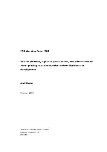 IDS Working Paper 228 Sex for pleasure, rights to participation, and ...