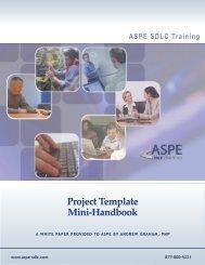 Project Template Mini-Handbook - ASPE