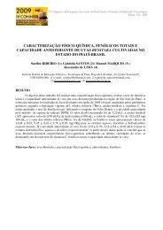 caracterização físico-química, fenólicos totais e capacidade ...