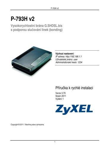 P-793H v2 - ZyXEL