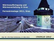Wärmeaufbringung und -verteilung in Graz