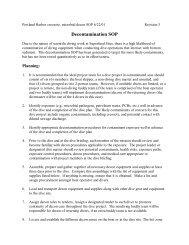 Decontamination SOP