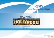 Hacking Hollywood - Security Assessment