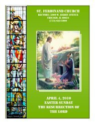 st. ferdinand church april 4, 2010 easter sunday the resurrection of ...