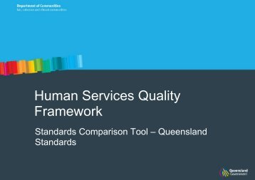 Human Services Quality Framework - Community Door