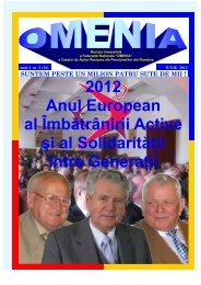 2012 Anul European al Îmbătrânirii Active şi al Solidarităţii între ...