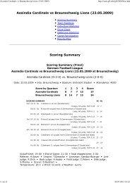 Assindia Cardinals vs Braunschweig Lions ... - NewYorker Lions