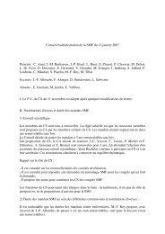 Conseil d'administration du 13 janvier 2007 - Publications de la SMF