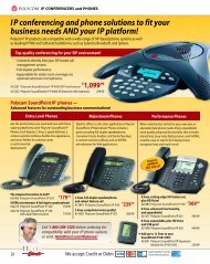 I P conferencing and phone solutions to fit your business needs ...
