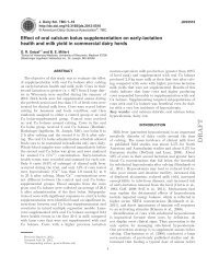 Effect of oral calcium bolus supplementation on early-lactation ...