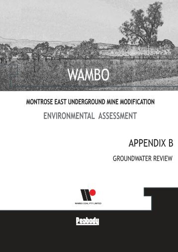 Appendix B - Groundwater Assessment - Peabody Energy