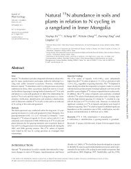 Natural N abundance in soils and plants in relation to N cycling in a ...