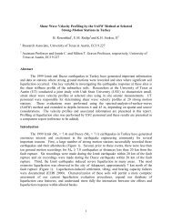 1 Shear Wave Velocity Profiling by the SASW Method at ... - PEER